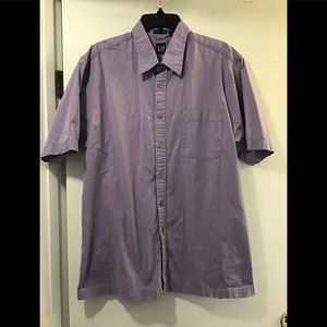 Gap button down shirt men's XL short sleeve